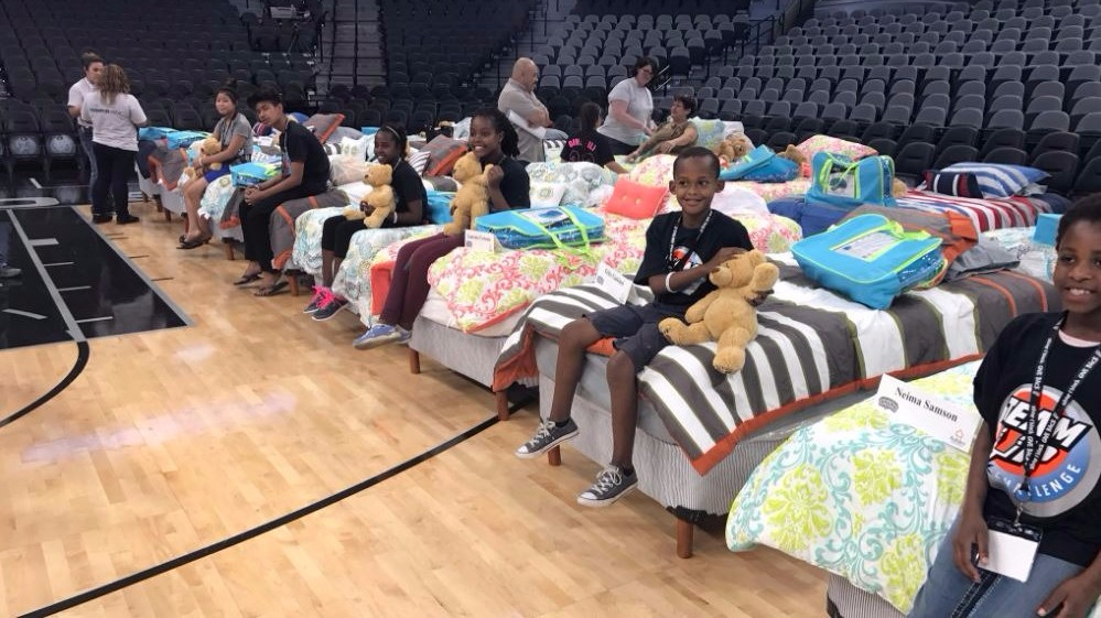 Local Kids 39 Hope To Dream 39 With New Mattress Bedding Set