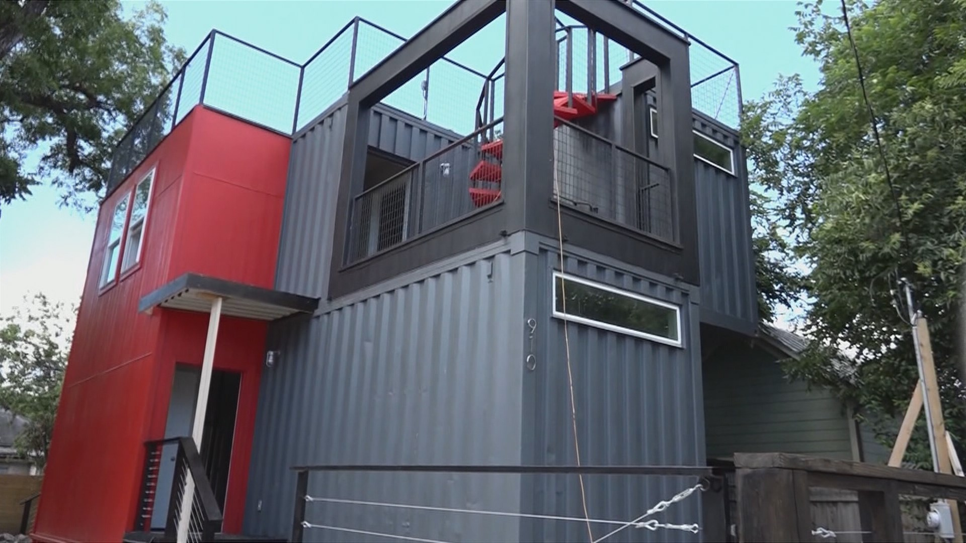shipping container home hits san antonio market for 300k. Black Bedroom Furniture Sets. Home Design Ideas