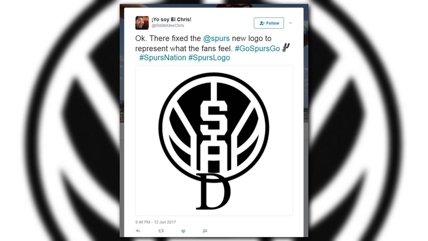 Feeling Sad Fans React To Leaked Spurs Logo Kens5 Com
